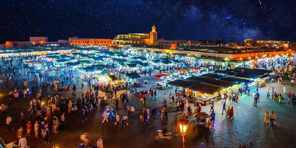 Jemaa el Fna-plein in Marrakech