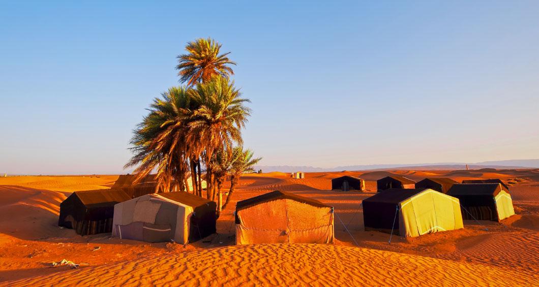 Acampamento no deserto