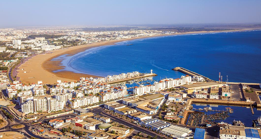 Panorama över Agadir