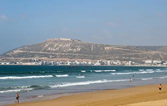 beach and sun in agadir tourism in morocco