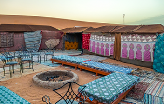Tents and bivouacs in the Moroccan Sahara culture nomodic tourism