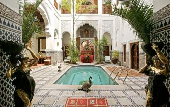 Moroccan palace with the  traditional architecture