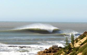 Surfers look for the best waves in safi