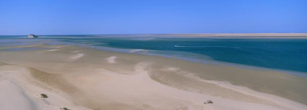 a good sandy in dakhla beach tourism in morocco
