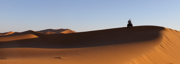quad and circuits in the moroccan desert merzouga sun and tourism