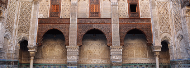 the Medersa of Attarine a historical monument in fes