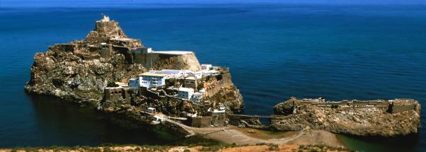 Vallery of the Gomcra in the Spain island in al hoceima tourism in morocco