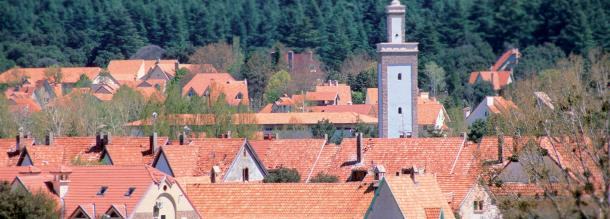 rooftops in ifrane city tourism in morocco