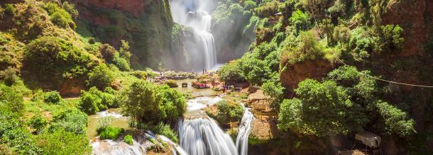waterfalls fun and relaxed in azilal in the the middle of the atlas in morocco