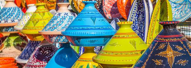 Moroccans crafts and traditionals products for shopping in the soulk of safi