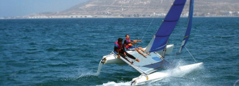 catamaran and others natuticals sports in agadir for your holiday in morocco