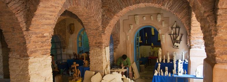 artisanat et marchés dans les médinas marocaines