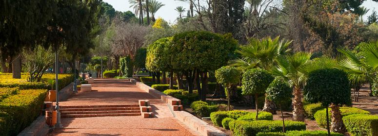 A day of relaxation and rest in the garden of Arsat Moulay Abdessalam in marrakech tourism in morocco