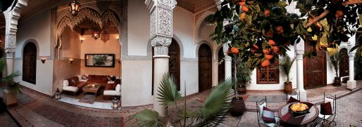 traditional riad in Morocco-tourism