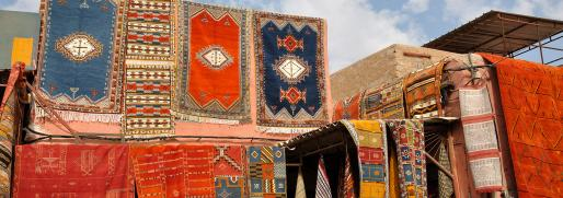 traditional craft and carpets in morocco-travel-tourism