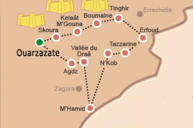 map-of-The-Kasbah-Road-in-morocco