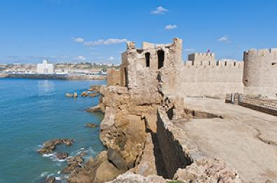 casbah and blue sea in safi city tourism morocco