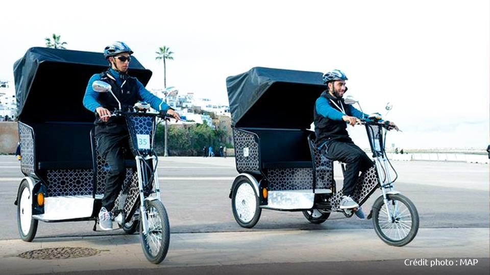 Rabat la ville lumière, se dote de vélos-taxis pour assurer