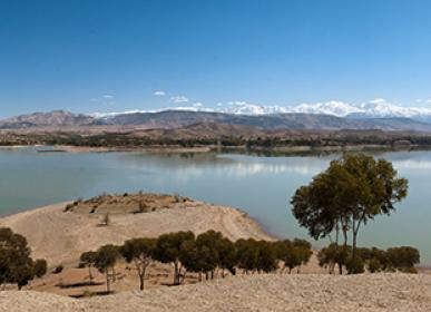 visit the Lake of lala Takerkoust in Marrakech tourism in morocco