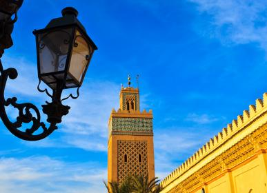 Mosque in casablanca city tourism in morocco