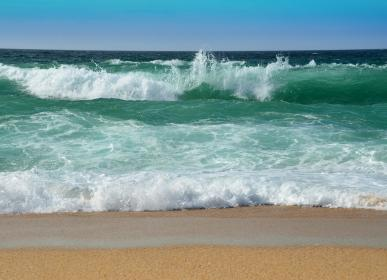 beautiful wave at the beach of the Atlantic Ocean in Morocco