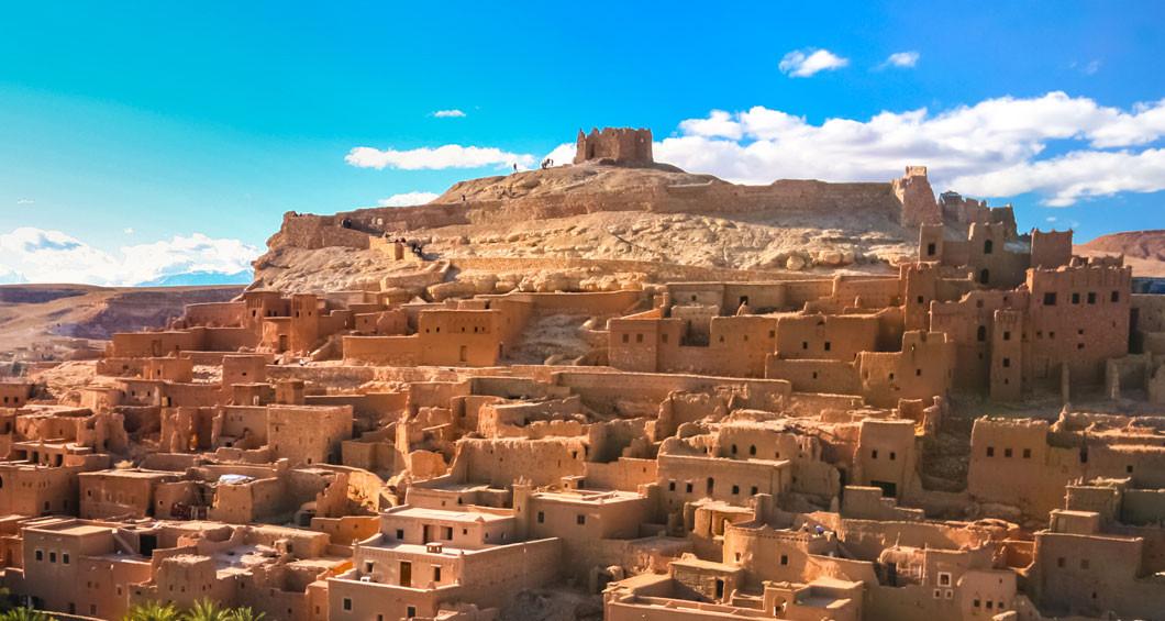 Bezoeken aan de kashba Ait Haddou