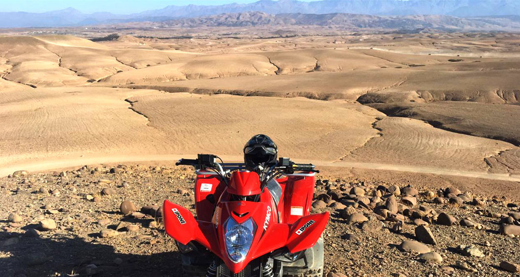 Quad biking in de Agafay-woestijn
