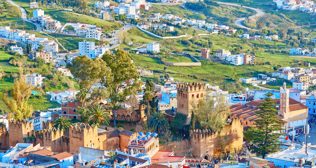 Panoramic view of Chefchaouen