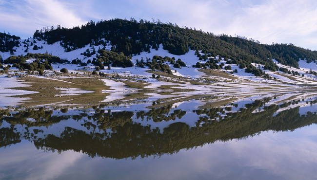 lake in ifrane and a beautiful natural landscape in morocco tourism