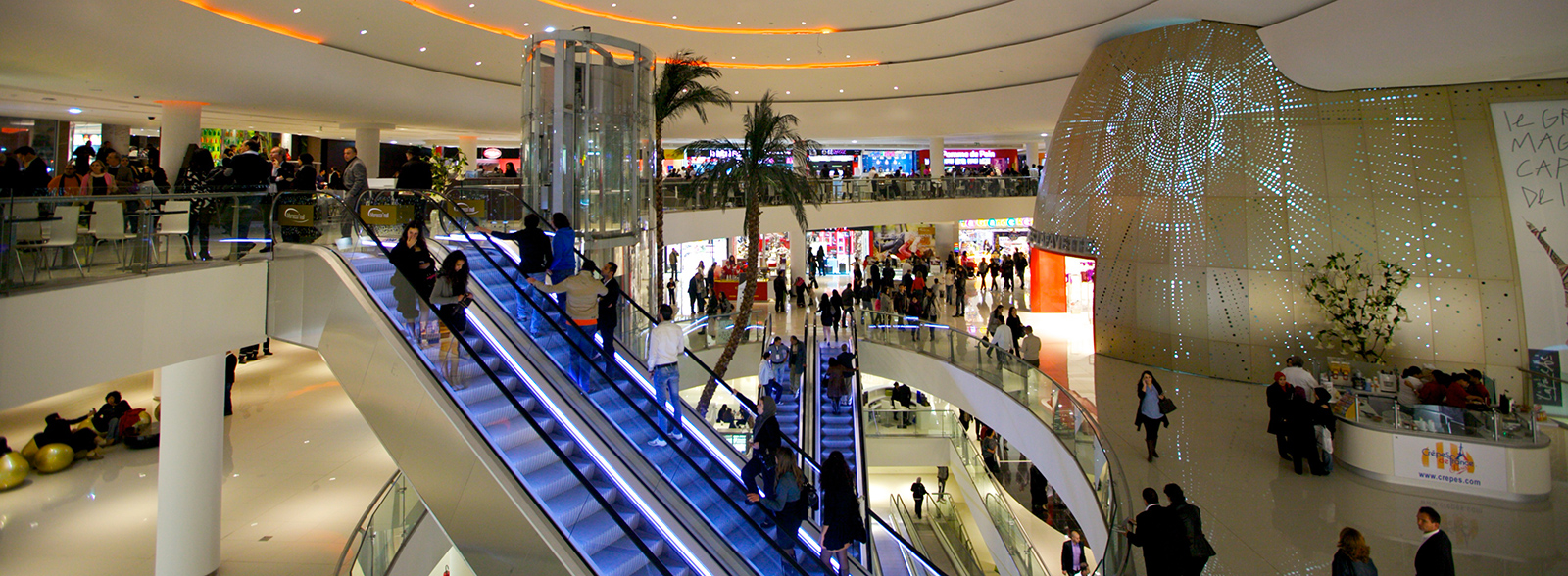 morocco mall in casablnca is a good place for your luxury shopping