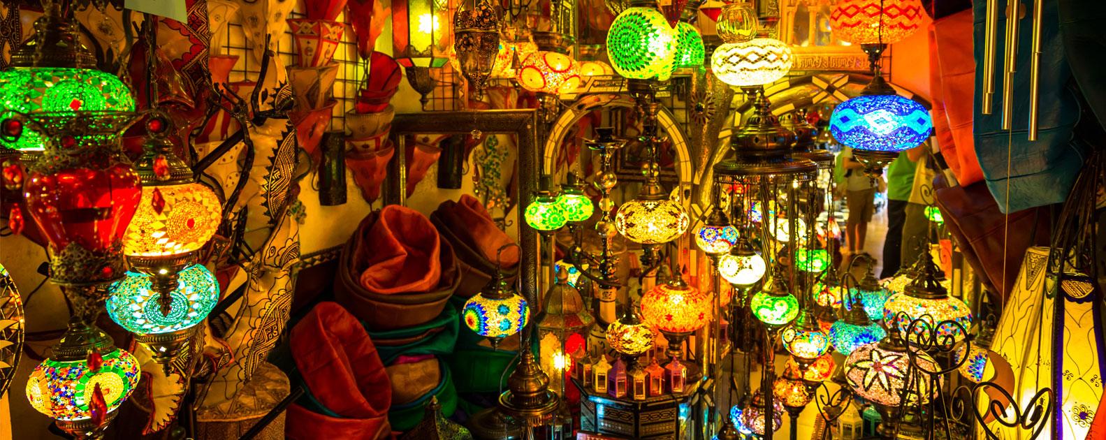lampes et lanternes arabes a marrakech