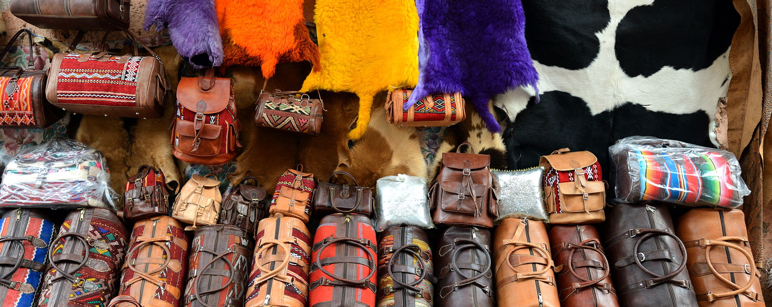 leather ware on the souk